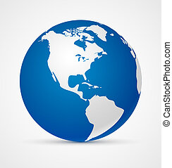 Globe of the world icon Vector illustration