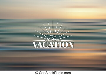 Summer Holidays - Summer vacation vector background Creative...