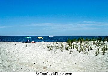 Peaceful Beach - A secluded beach on Long Beach Island along...