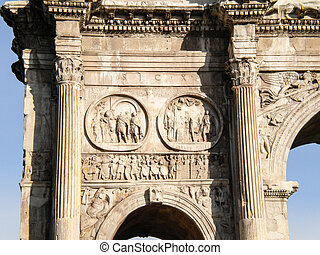 Roma, Italy - Arco Di Costantino (Arch of Constantine),...