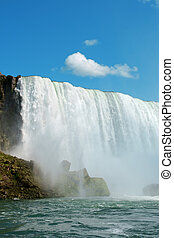 Horseshoe Niagara Falls on the canadian border