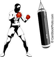 Boxer - Vector illustration of boxer Solid fill only No...