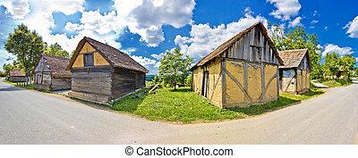 Rural village historic architecture in Croatia