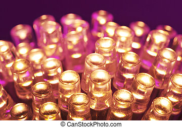 warmwhite LEDs - macro detail of some warmwhite LEDs in...
