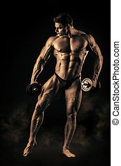 masculinity - Full length portrait of a handsome muscular...