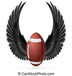 Flying ball - Realistic ball for American football with...