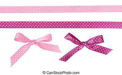 Ribbons and bows dots of them - Pink and purple polka dot...