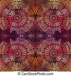 Abstract vector ethnic seamless pattern - Abstract vector...