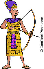 Ancient Egyptian warrior on a white background vector...