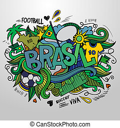Brazil Summer and doodles elements - Brazil Summer 2014...