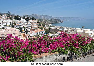 Nerja famous resort on Costa del Sol, Malaga, Spain