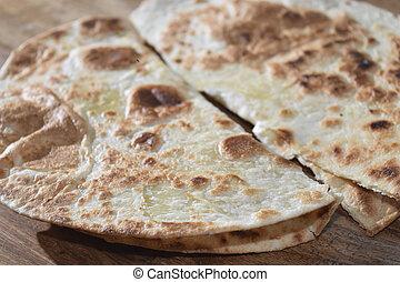 flatbread - traditinal  Italian flatbread: piadina emiliana
