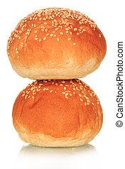 Two fresh buns