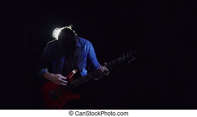 Flirting with Darkness - Slow motion of super cool guitarist...