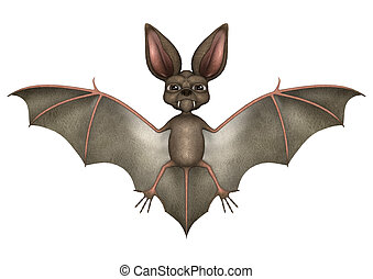 Funny Bat - 3D digital render of a funny cartton bat...