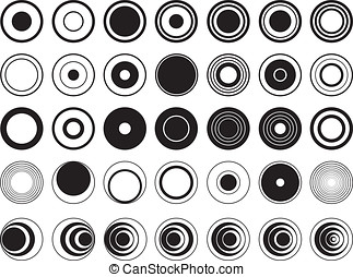 Design circles illustrated on white