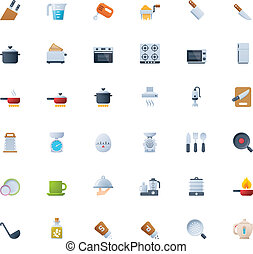 Cooking icon set - Set of the cooking related icons