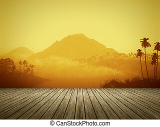 orange landscape - An image of a nice orange landscape