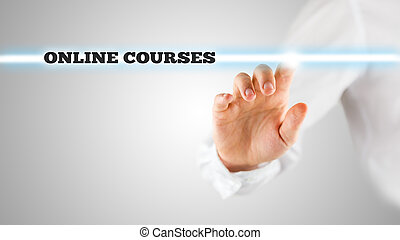 Words - Online Courses - on a virtual interface