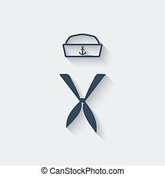 sailor clothing design element - vector illustration eps 10