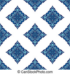 Seamless tiled pattern vector design - Seamless abstract...