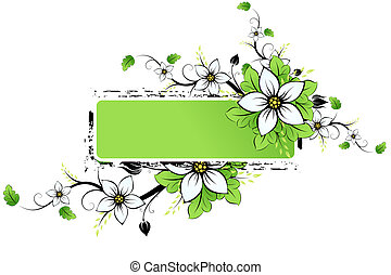Grunge Flowers frame AD - Grunge frame AD with spring...