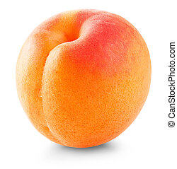 Apricot fruit isolated on white background. Clipping Path