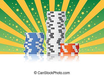 Poker Chips - Casino poker chips.