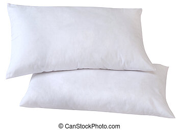 Pillows. Clipping path - Two feather pillows