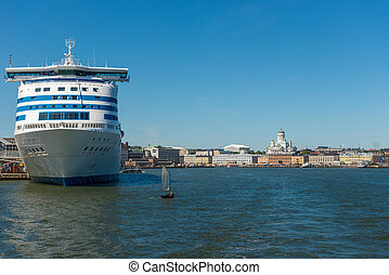 Helsinki Finland Nice view from the steamer