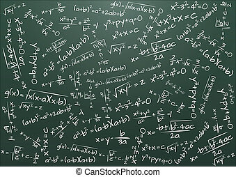 chalkboard formula math - illustration of chalkboard with...
