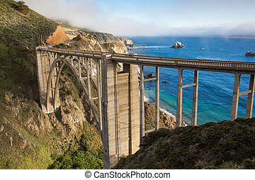 Bixby Bridge on California coast