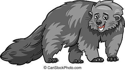 bearcat animal cartoon illustration - Cartoon Illustration...