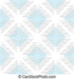 Diagonal white wavy lines with blue pattern
