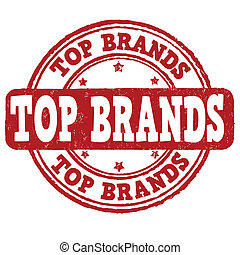 Top brands stamp - Top brands grunge rubber stamp on white,...