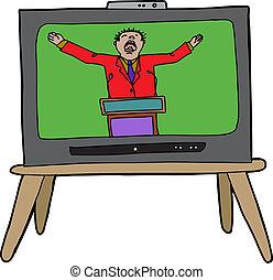predicador, televisión