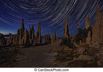 Art Landscape Image of the Tufas of Mono Lake