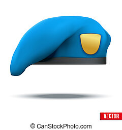 Military Light Blue Beret Special Forces - Military Light...