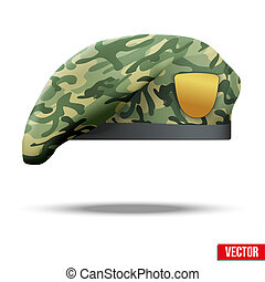 Military Camouflage Beret Special Forces - Military Beret...