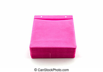 Pink CD paper case. - Pink CD paper case on white...