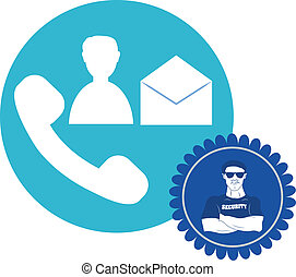 security guard icon - Vector design of security guard icon,...