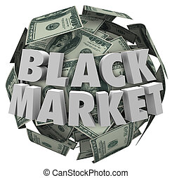 Black Market Money Ball Unreported Illegal Transactions...