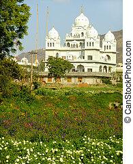 Gurudwara temple in Pushkar, India - Gurudwara temple,...