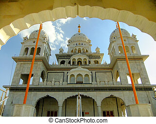 Gurudwara temple in Pushkar, India - Gurudwara temple,...