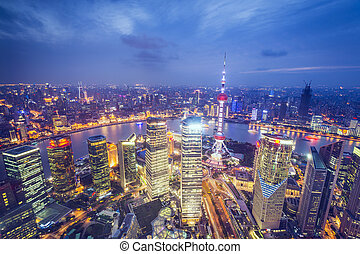 Shanghai Aerial View - Shanghai, China aerial view of the...