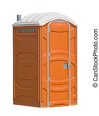 public facilities - orange portable public toilet