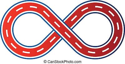 Figure 8 race circuit image Car road track icon