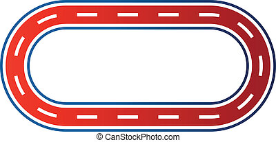 Elliptical race circuit image logo - Elliptical race circuit...