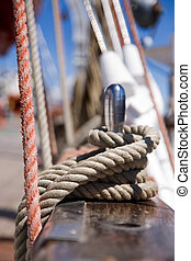 Rigging - Detail of rigging of old sail ship