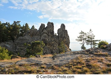 Devil's Wall - Devil's Wall at Timmenrode in Harz National...